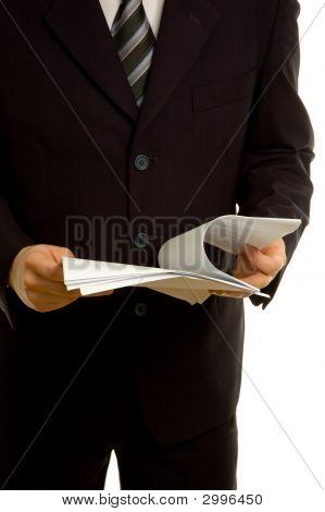 Businessman Reviewing Documents