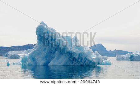 Light blue iceberg