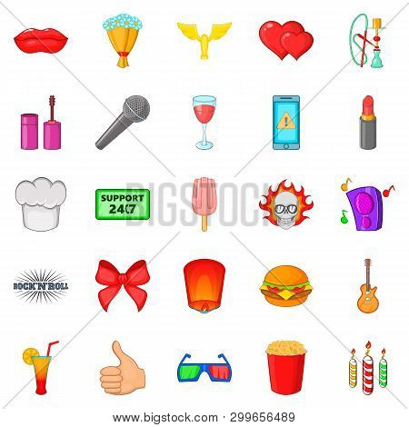 Fare Icons Set. Cartoon Set Of 25 Fare Icons For Web Isolated On White Background