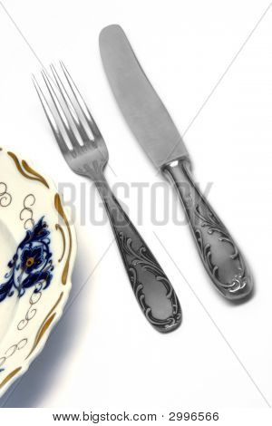 Fork And Knife Isolated