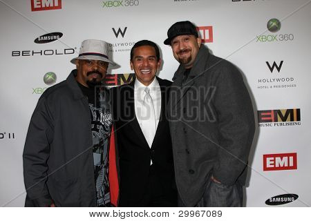 LOS ANGELES, CA - FEB 13: Antonio R. Villaraigosa  & Cypress Hill at the EMI GRAMMY After-Party at Milk Studios on February 13, 2011 in Los Angeles, California