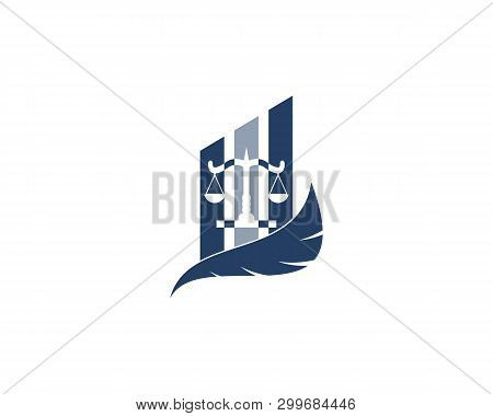 Law Firm Justice Logo Vector & Photo (Free Trial) | Bigstock