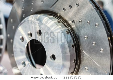 Car Disk Brake. Steel Brake Disc Complete With Brake Pads.