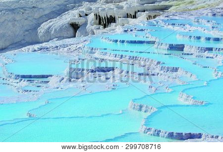 View Of Natural Beauty Of Pamukkale Pool