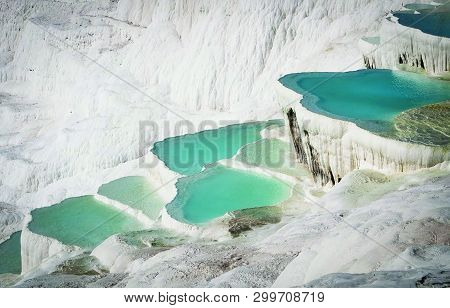 View Of Pool Of Pamukkale In Turkey