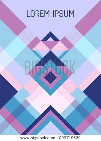 Plaid cover page layout vector template geometric design with triangles and stripes pattern. Folklore brazilian motifs. Striped bauhaus pattern vector cover design. Cool geometry. poster