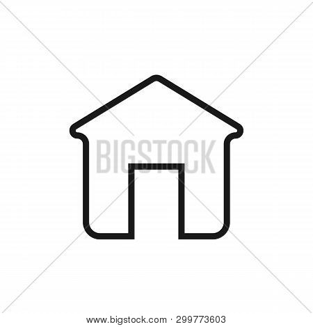 Home Outline Icon. House Vector Icon Eps10. Home In Trendy Flat Style Isolated On Background. Home I