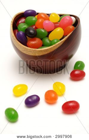 Jelly Beans In A Rosewood Bowl