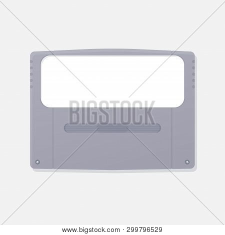 Template Of Japanese Design Game Cartridge Of Fourth Generation Game Consoles. Plastic Case Of Class
