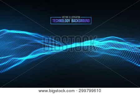 Abstract Technology Background. Background 3d Grid.cyber Technology Ai Tech Wire Network Futuristic