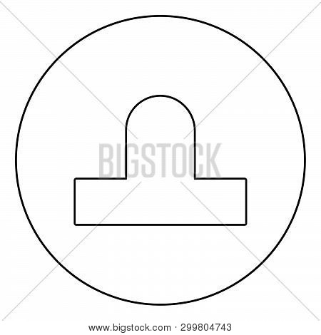Bit Aero Hockey Icon In Circle Round Outline Black Color Vector Illustration Flat Style Simple Image