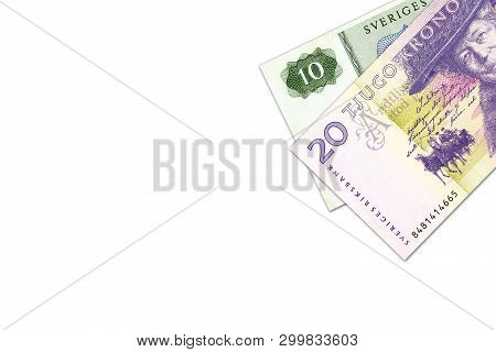 Swedish Krona Banknotes Indicating Growing Economy With Copyspace