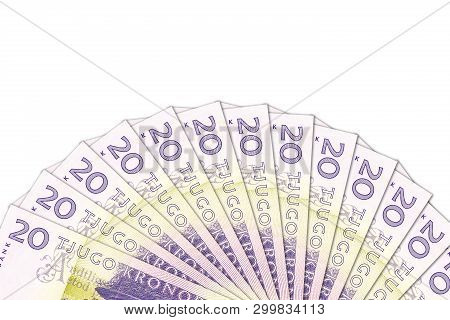 Some 20 Swedish Krona Bank Notes With Copyspace