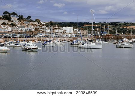 United Kingdom, South West England, Cornwall, View Of Penzance Harbour And Town