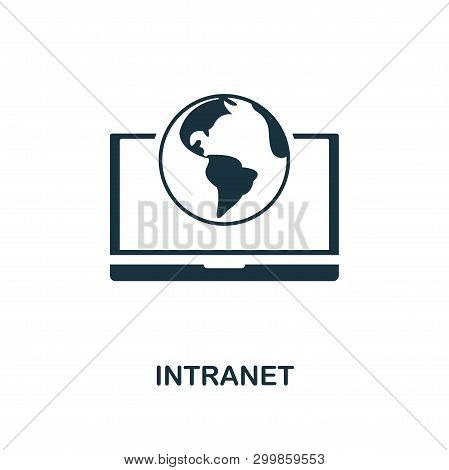 Intranet Icon. Creative Element Design From Icons Collection. Pixel Perfect Intranet Icon For Web De