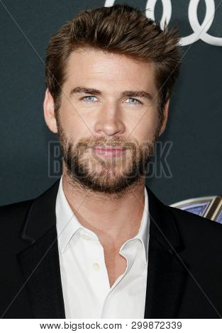 Liam Hemsworth at the World premiere of 'Avengers: Endgame' held at the LA Convention Center in Los Angeles, USA on April 22, 2019.