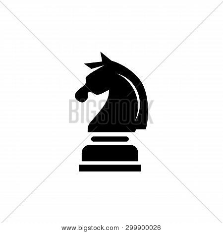 Horse Chess Piece Icon Isolated On White Background. Horse Chess Piece Icon In Trendy Design Style.