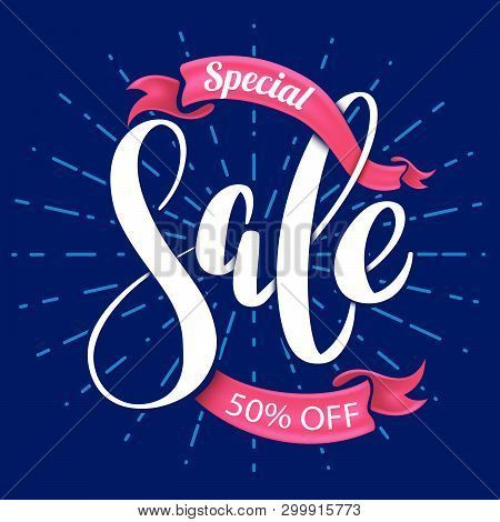 Special Sale Lettering Banner For Promotion Advertising.