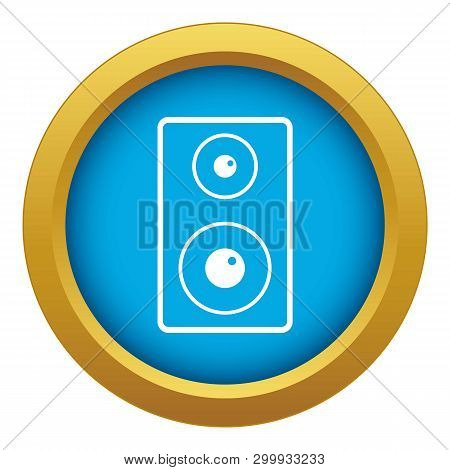 Subwoofer Icon Blue Vector Isolated On White Background For Any Design