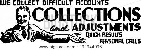 Collections - Retro Ad Art Banner For Accounts