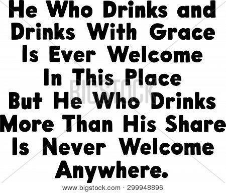 He Who Drinks - Retro Ad Art Banner