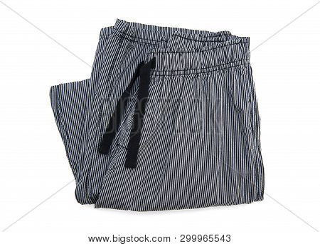 Pyjamas trousers isolated on the white background