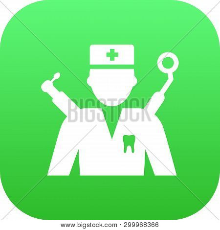 Isolated Dentist Icon Symbol On Clean Background. Vector Orthodontist Element In Trendy Style.
