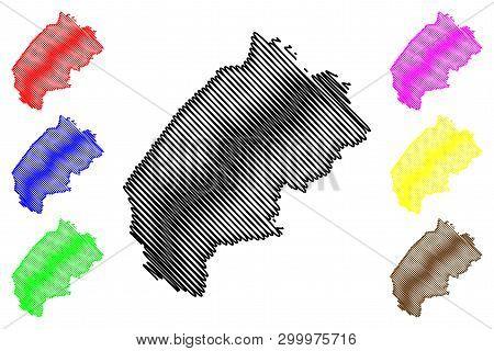 Lviv Oblast Map Vector....