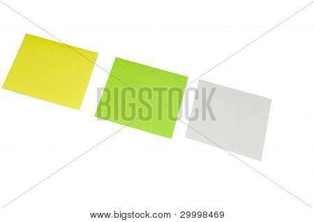 Green&Yellow White Small memo paper