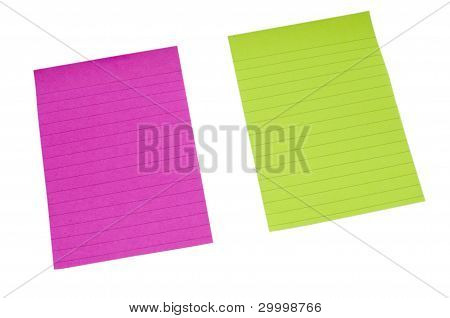 Yellow and Purple lined paper