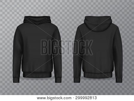 Realistic Men Hoodie Or Black 3d Hoody, Sweatshirt