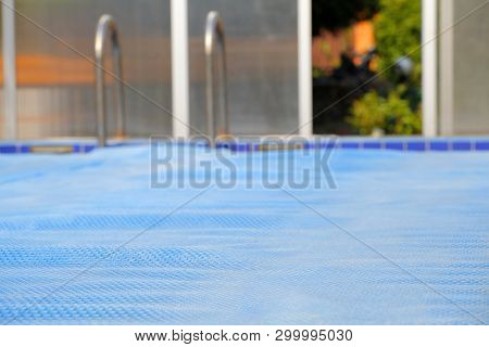 Swimming Pool Bubbles Wrap Background Day Light