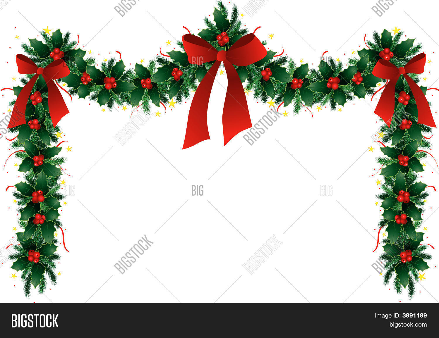 Christmas Garland Vector Photo Free Trial Bigstock