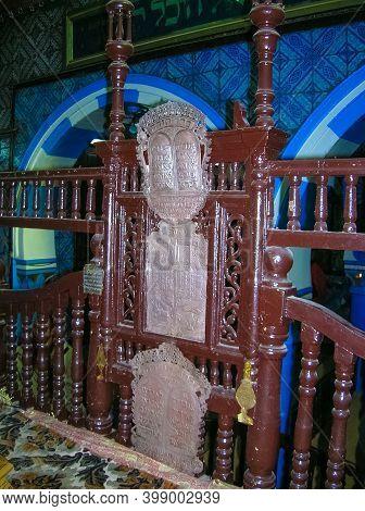 Houmt Souk, Tunisia - January 3, 2008: El Ghriba Synagogue Djerba Synagogue In Hara Seghira Er-riadh