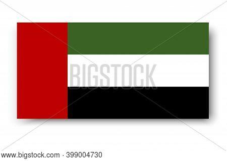 Arabic Banner With Flag Arab Emirates. Vector Illustration Uae. Saudi National Day. Stock Image.