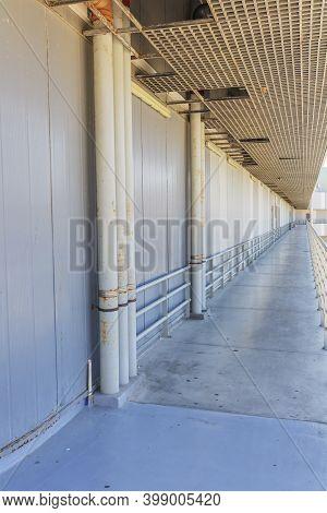 Scene With Passageway Modern Construction Minimalist View.