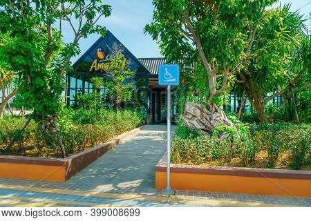 Lampang, Thailand - December 2, 2020: Coffee Shop Amazon Is A Popular Coffee Shop That People Buy An