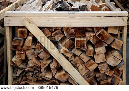 Chopped And Hand-folded In A Crate For Sale Or For Storage In A Cottage. Transport By Pallet Truck.