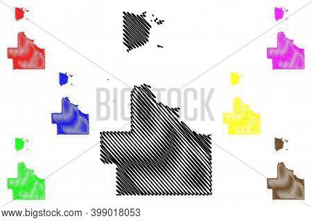 Lake Of The Woods County, Minnesota (u.s. County, United States Of America, Usa, U.s., Us) Map Vecto