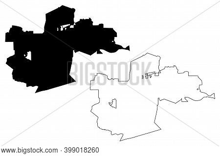 Simi Valley City, California (united States Cities, United States Of America, Usa City) Map Vector I