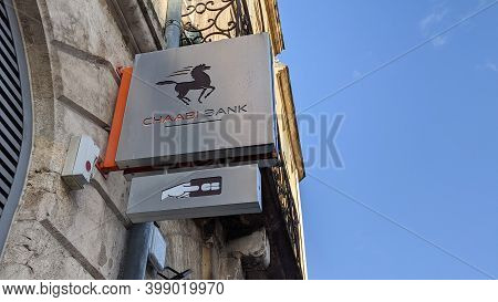 Bordeaux , Aquitaine  France - 12 09 2020 : Bank Chaâbi Of Morocco Bcdm Text Sign And Atm Logo On Of