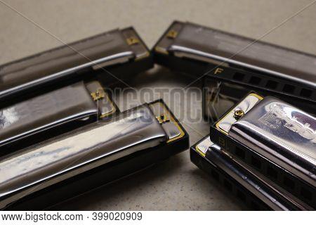 Set Of Harmonicas