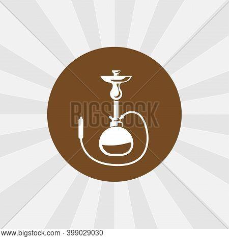 Shisha Isolated Vector Icon. Smoking Design Element