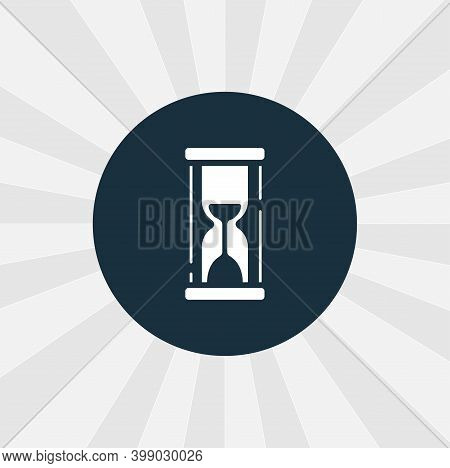 Hourglass Icon. Sandglass Isolated Vector Icon. Time Design Element