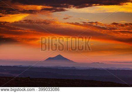 New Zealand. Beautiful natural landscapes. Tongariro volcano