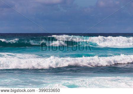 Choppy Surf In Stormy Weather, Sunset Beach, Oahu, Hawaii