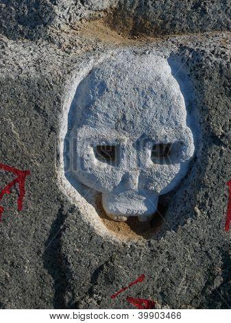 skull in the rock