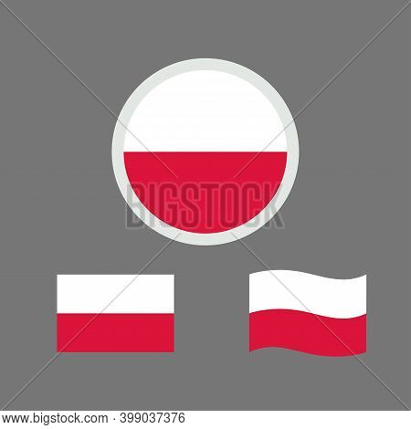 Vector Illustration Of Poland Flag Sign Symbol. Poland Flag Vector. Poland National Flag.