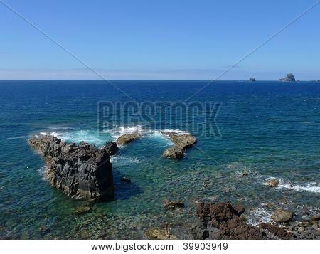 rocks by seaside