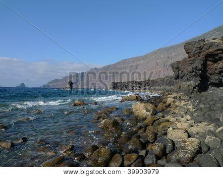 rocky coast at el hierro